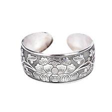 Beautiful New Tibetan Tibet Silver Totem Bangle Cuff Peony Bracelet Jewelry MO