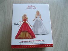 2015 Hallmark Ornaments – Celebration Barbie Ornament 2 Set (Blond Barbie) - New