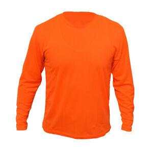 Safety Work Hi Vis Vest T Shirt Long Sleeve ANSI High Visibility Reflective Tape