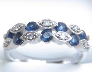 Genuine Diamond & Natural Sapphire Ring 10K White Gold Michael Hill Jeweller