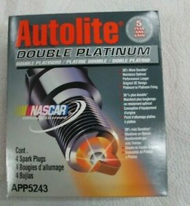 Spark Plug-Double Platinum Autolite APP5243 BOX OF 4 SPARK PLUGS