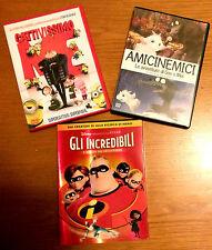 """4 DVD: """" GLI INCREDIBILI"""" + """"CATTIVISSIMO"""" + """"AMICINEMICI"""""""
