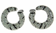 Kenneth Jay Lane KJL Animal Print Crystal Clip-on Earrings