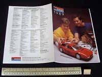 1989 Vintage Monogram USA Plastic Kit Catalogue - Cars Aeroplanes Ships etc