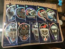 Pacific Trading Cards goalie mask Complete Set Of 10 Dynagon Ice 2000