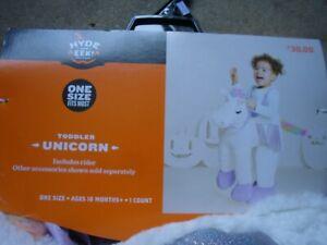 New Unicorn Pegasus Ride On TODDLER One Size Rider 3D Plush Halloween Costume