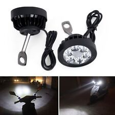 Motorcycle 6 LED Front Headlight Spot Fog Lights 12V-85V Head Lamp Pair Work 10W