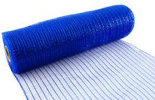 Deco Mesh Glitter Metallic Royal Blue 10 Yards Eleganza 25cm