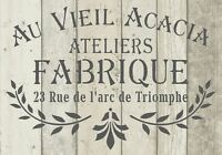 Stencil Shabby Chic FRENCH VINTAGE furniture ART CRAFT 190 micron MYLAR A5 (151)