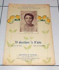 Spartito 'O DESTINO 'E LL'ATE Jula De Palma Marcello Gigante 1959 PIANO Napoli