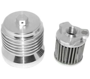 PC Racing PCS4C FLO Spin On Stainless Steel Oil Filter - Polished