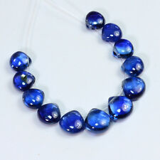 5.5mm-7mm Gem Kyanite Smooth Heart Briolette Beads (12)