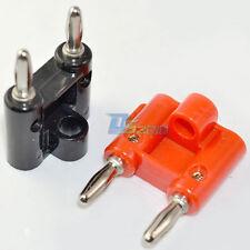 1 Pair 2Pcs Screw Type Dual Banana Plug Speaker 18.5mm space 2Colors Connector