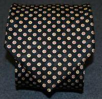 Stefano Ricci for Papillion Silk Mens Tie Black Motif Pattern L 60.5 W 4