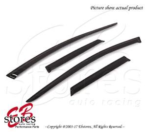 For Mazda CX-7 2007-2011 Outside-Mounted Dark Smoke JDM Window Visors 4pcs