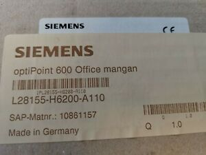 Siemens OPTIPOINT600 Office Phone System New Condition Hipath Black