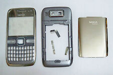 Full Silver Housing cover fascia facia faceplate skin case for Nokia E72