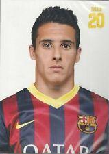 Postal postcard 20 Tello jug. FC BARCELONA 13/14