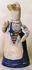 Salamander Poliwoggs JOINTED PATRIOTIC GOOSE WITH USA FLAG FIGURINE Retired