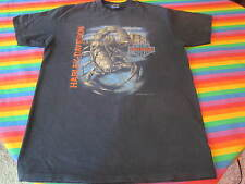 Vintage Harley Davidson Tee Shirt Large 2 Sided Shop Back Nice 3D Emblem Rare
