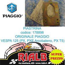 PIASTRINA PIASTRA SERRATURA SELLA 178898 ORIGINAL PIAGGIO VESPA PX 125 1998>2001