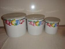 GMI Metal Canister Set Set Of 3 Canisters With Plastic Lids