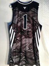 Adidas Swingman NBA Jersey Chicago Bulls Derrick Rose Black All-Star 2013 sz 2X