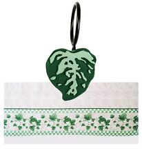 BRAND NWT Ivy Vine Leaf DECORATIVE Off-White CURTAIN 11-Piece SET w/Ring Clips