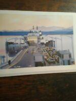 Beautiful Greeting Card Washington State Ferries Vintage KINGSTON WASHINGTON