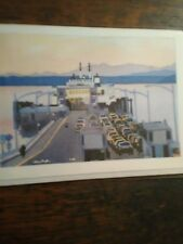 WASHINGTON STATE FERRIES KINGSTON WASHINGTON ONE FULL COLOR GREETING CARD