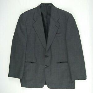 Fletcher Jones - Grey Wool Blend 2 Button Sports Suit Jacket Men's Size 104 S