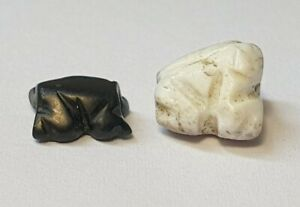 2 ANCIENT RARE WESTERN ASIAN FROG BEADS