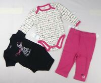 Calvin Klein Baby Girls' 3 pcs Bodysuit & legging Set sizes 12,18, 24 months