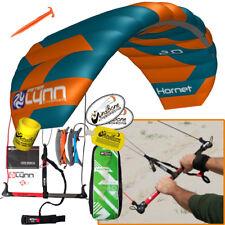 Peter Lynn Hornet 2M Foil Power Trainer Kite Kiteboarding 4-Line Control Bar