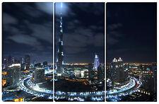 Quadro moderno DUBAI 80X120 abu dhabi arabia saudita Burj Khalifa vacanza città