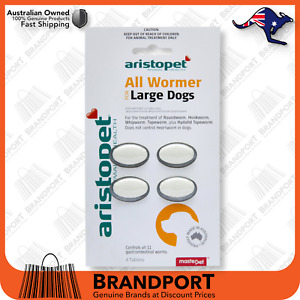 Aristopet All Wormer for Large Dogs 4pack - Dog Worming Tablets ✅Australian made