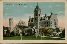 Exterior View St. Mary's College in Dallas TX Postcard C16