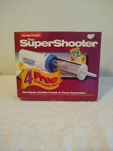 THE SUPER SHOOTER Cordless Cookie Press -11 Cookie Discs - HAMILTON BEACH #80040