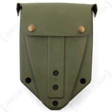 German Army Style Olive Drab Shovel and Cover - Small Military Spade New