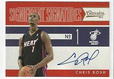 2010-11 Panini Classics Chris Bosh Significant Signatures #/99