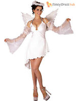 Ladies Angel Costume Adults Christmas Fancy Dress Womens Xmas Nativity Outfit
