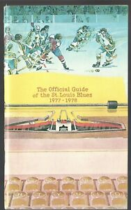 ORIGINAL 1977-78 ST. LOUIS BLUES NHL MEDIA GUIDE YEARBOOK FACT BOOK
