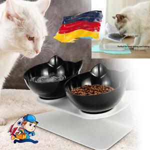 Futternapf Hundenapf Ständer Katzennapf für Hunde Katzen Doppelter Näpfe