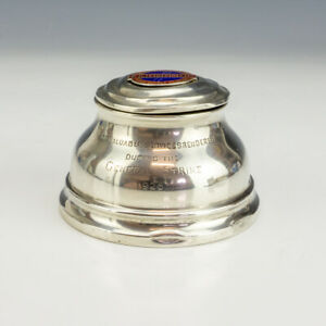 Antique English Silver - 1926 General Strike Commemorative - Travel Inkwell