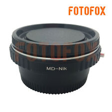 with glass Minolta MD MC Lens to Nikon AI F DSLR adapter infinity focus + caps