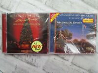 2 Mannheim Steamroller Music CD American Spirit & Christmas Extraordinaire NEW