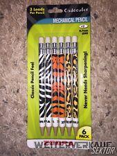 Cadoozles Mechanical Pencils 6 Pack- Zebra themed