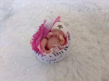 1:12 Dollhouse full sculpt Baby doll OOAK miniature 4cm handmade clay art Sheryl