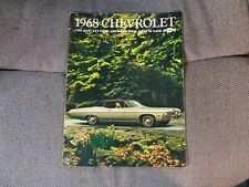 1968 CHEVROLET IMPALA BEL AIR CAPRICE BISCAYNE BROCHERE VINTAGE VERY COOL