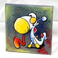 "EASTER Lizard SPACE SERPENT Original Graffiti 6"" x 6"" Original Canvas Painting"
